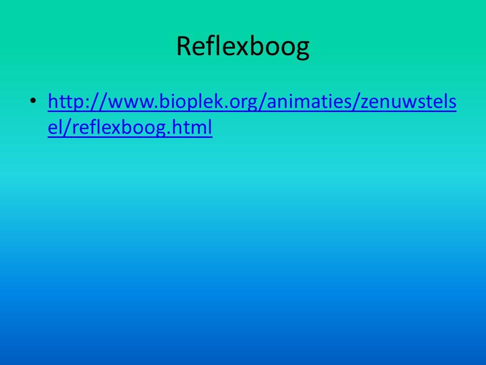 Reflexboog http://www.bioplek.org/animaties/zenuwstelsel/reflexboog.html
