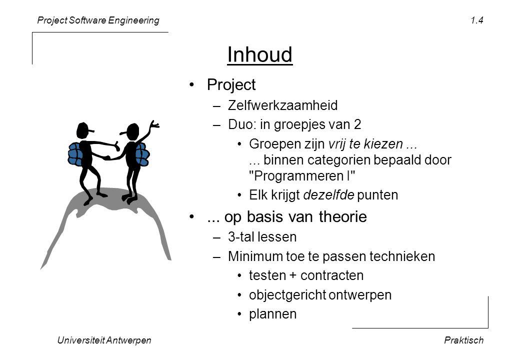 Inhoud Project ... op basis van theorie Zelfwerkzaamheid