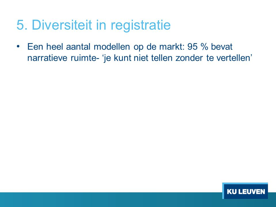 5. Diversiteit in registratie