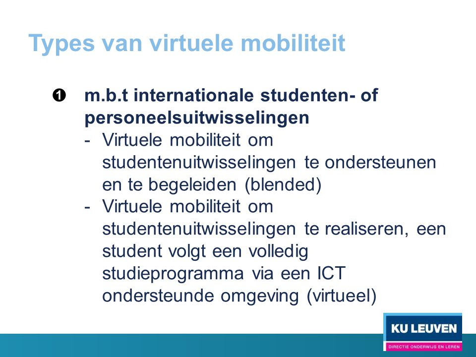 Types van virtuele mobiliteit