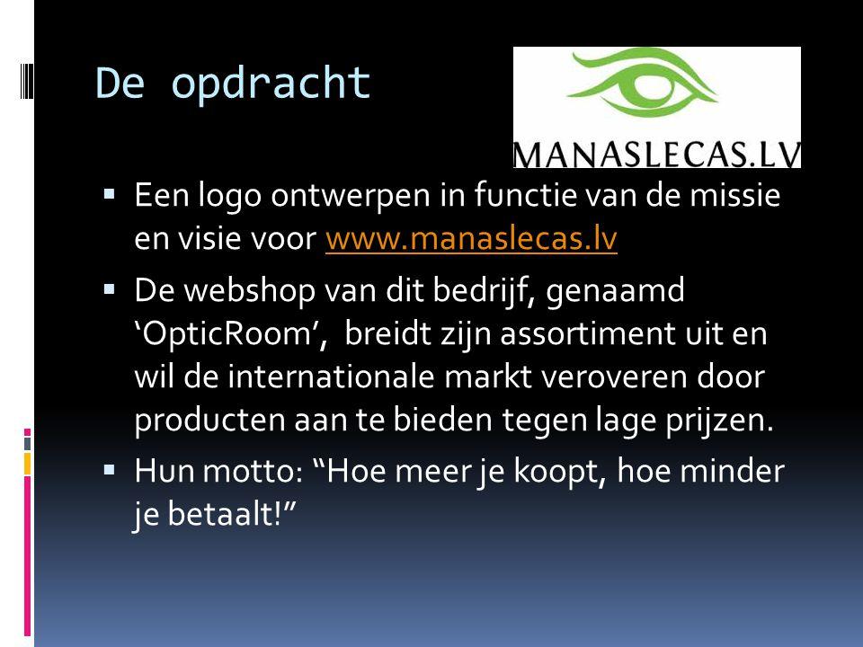 De opdracht Een logo ontwerpen in functie van de missie en visie voor www.manaslecas.lv.
