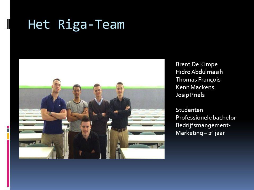 Het Riga-Team Brent De Kimpe Hidro Abdulmasih Thomas François Kenn Mackens Josip Priels.