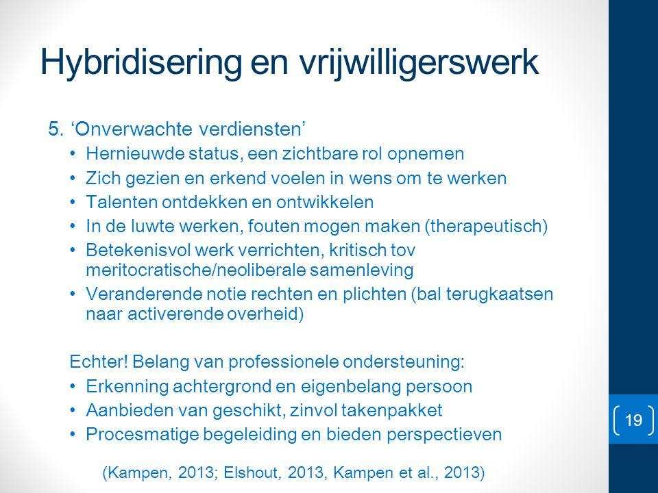 Hybridisering en vrijwilligerswerk