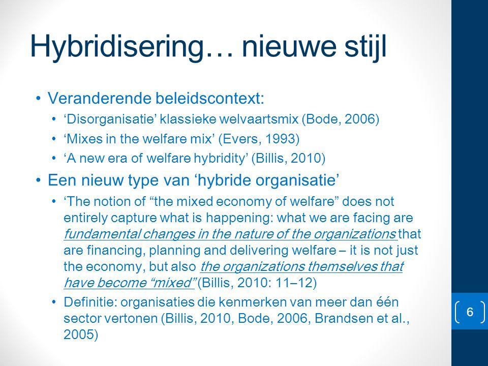Hybridisering… nieuwe stijl