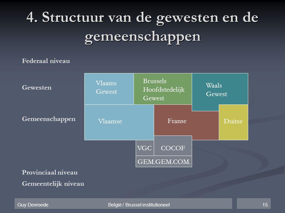 4. Structuur van de gewesten en de gemeenschappen