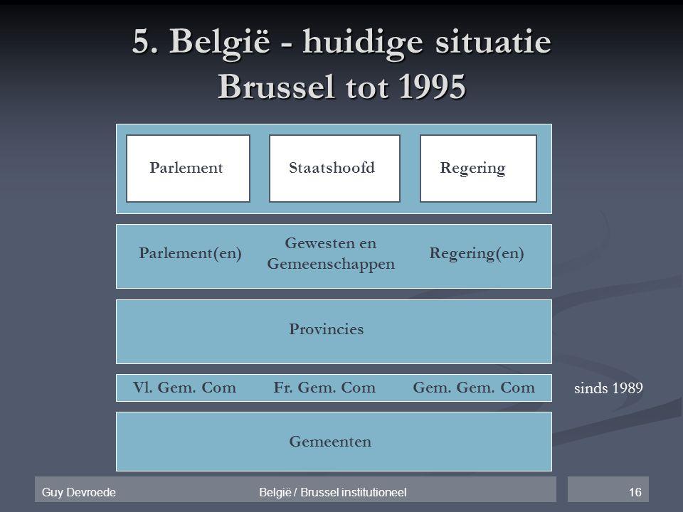 5. België - huidige situatie Brussel tot 1995