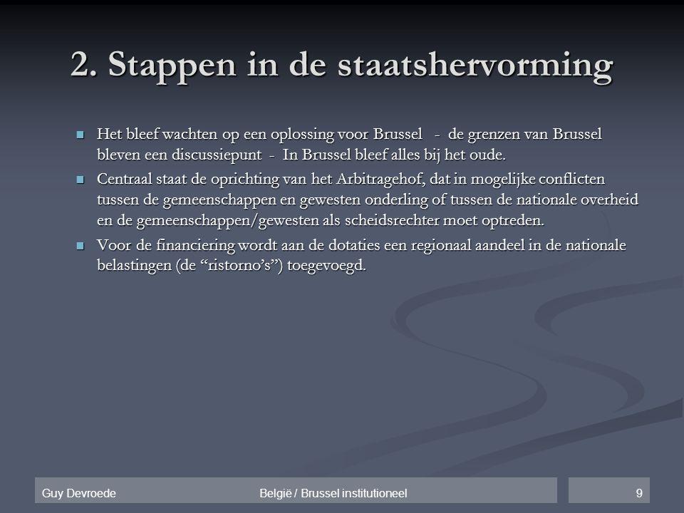 2. Stappen in de staatshervorming