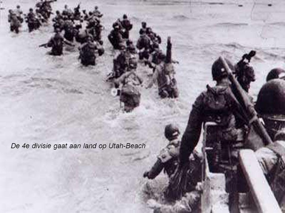 De 4e divisie gaat aan land op Utah-Beach