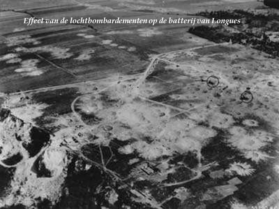 Effect van de lochtbombardementen op de batterij van Longues