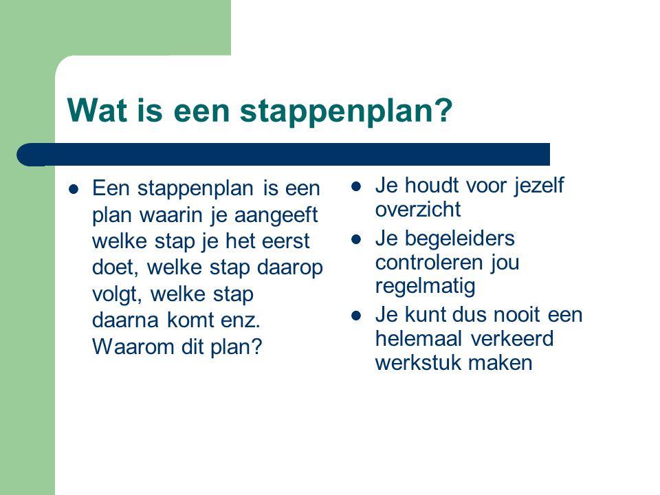 Wat is een stappenplan