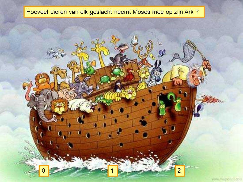 Hoeveel dieren van elk geslacht neemt Moses mee op zijn Ark