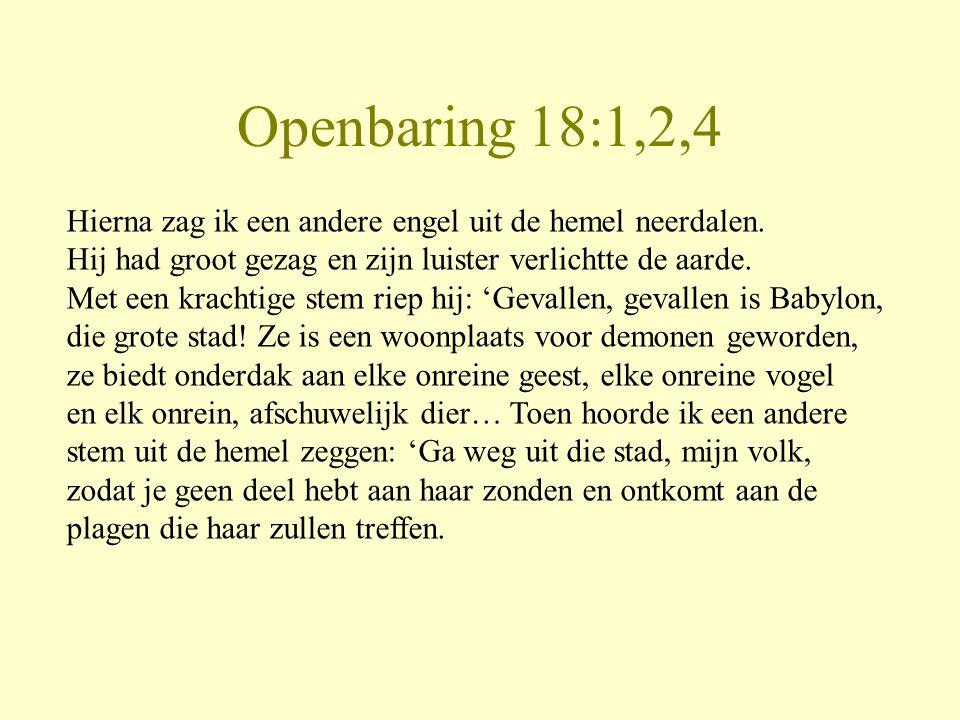 Openbaring 18:1,2,4