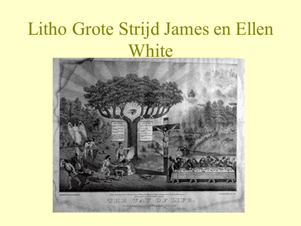 Litho Grote Strijd James en Ellen White