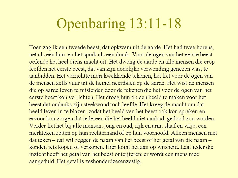 Openbaring 13:11-18