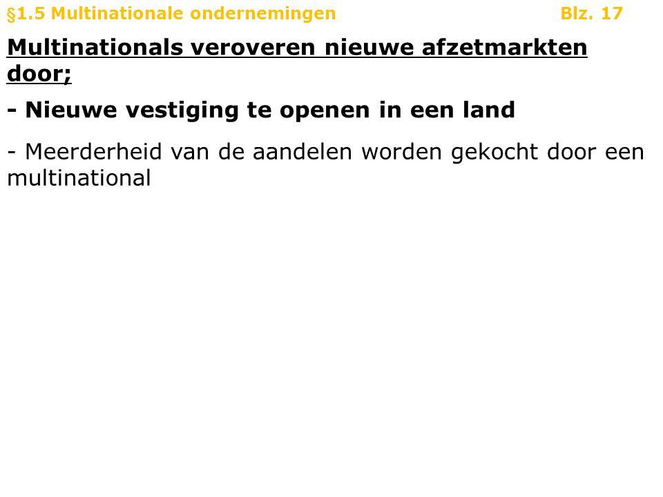 Multinationals veroveren nieuwe afzetmarkten door;