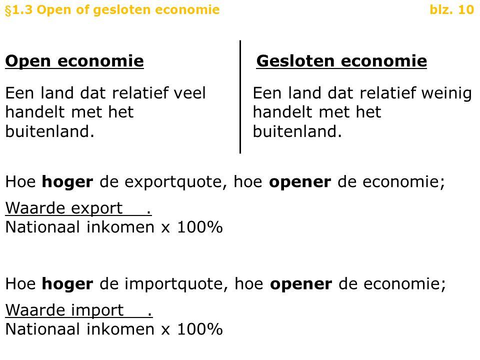 §1.3 Open of gesloten economie blz. 10