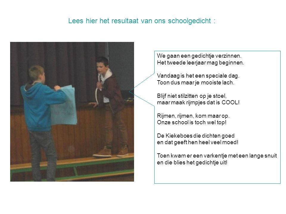 Lees hier het resultaat van ons schoolgedicht :