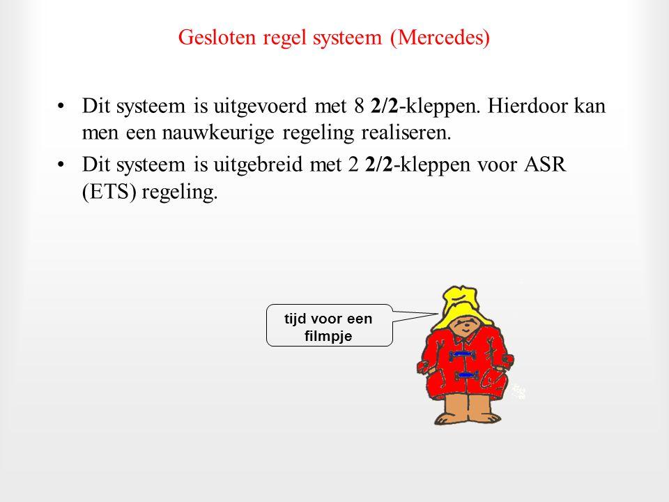 Gesloten regel systeem (Mercedes)