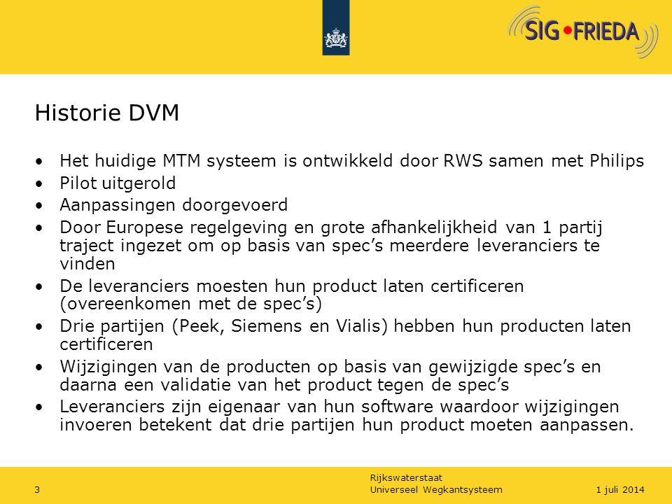 Historie DVM Het huidige MTM systeem is ontwikkeld door RWS samen met Philips. Pilot uitgerold. Aanpassingen doorgevoerd.