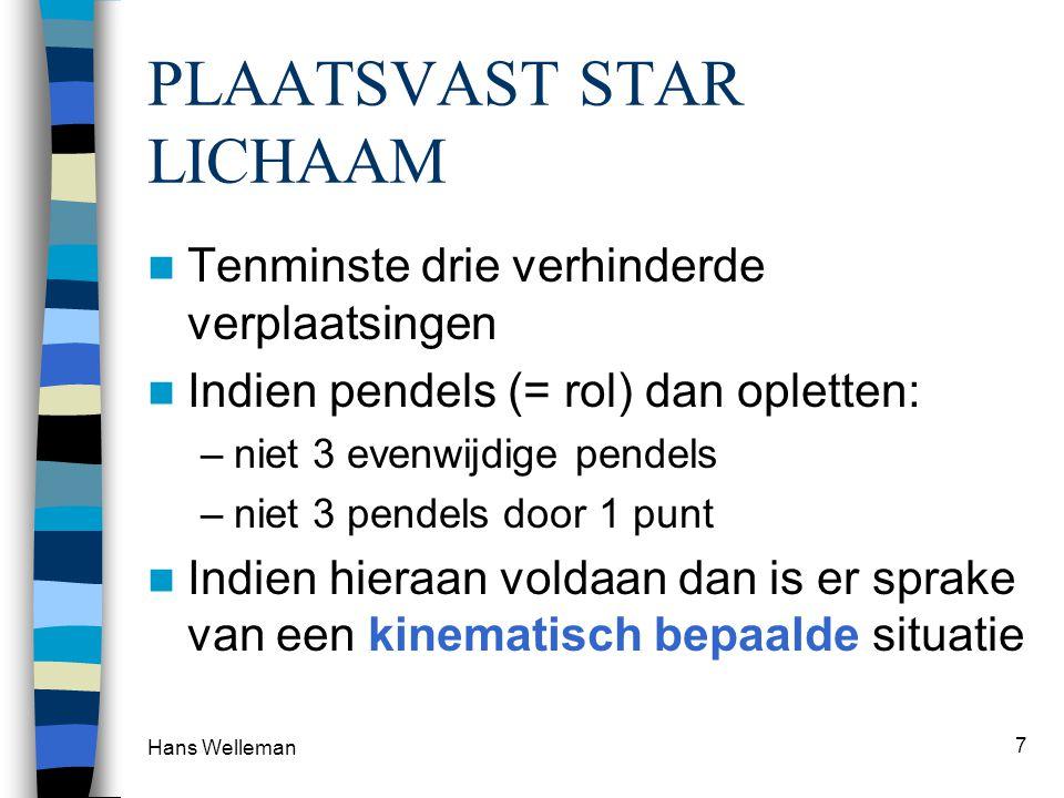 PLAATSVAST STAR LICHAAM