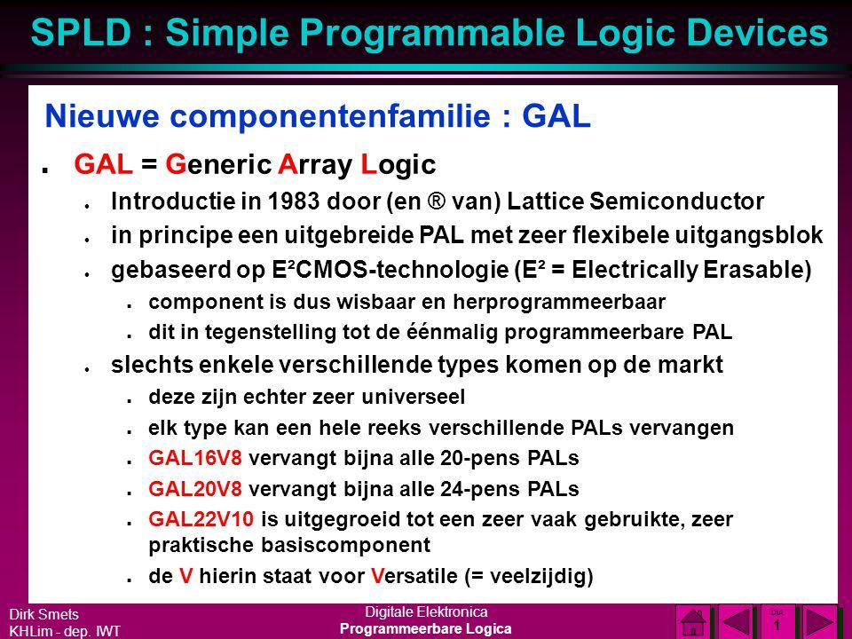 Nieuwe componentenfamilie : GAL