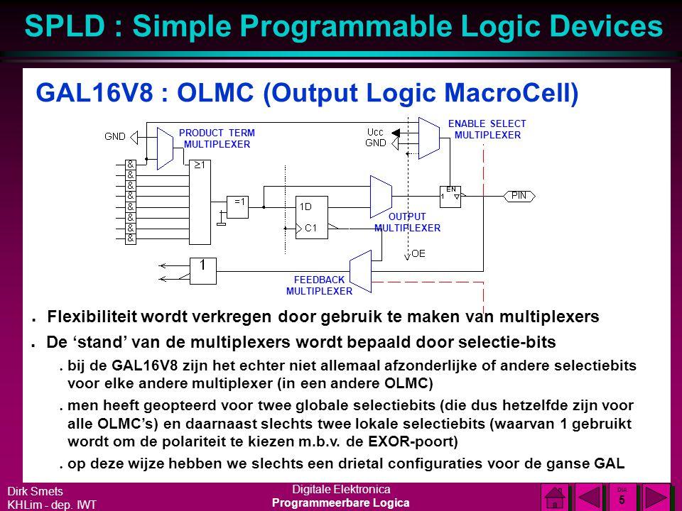 GAL16V8 : OLMC (Output Logic MacroCell)