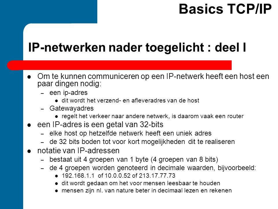 IP-netwerken nader toegelicht : deel I