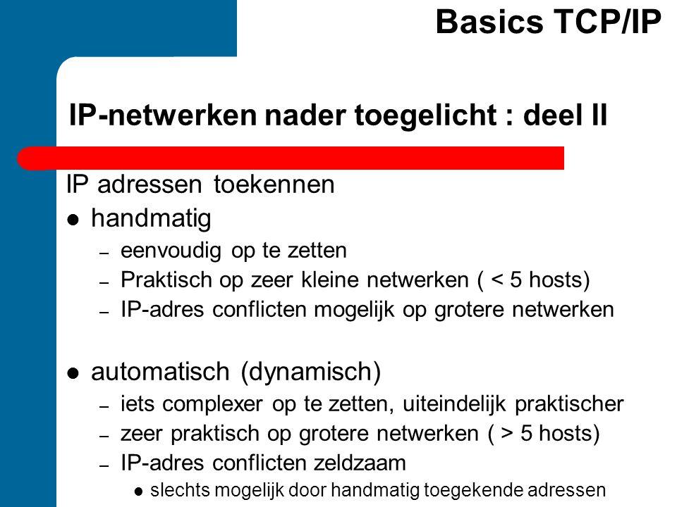 IP-netwerken nader toegelicht : deel II