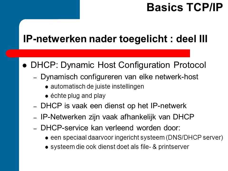 IP-netwerken nader toegelicht : deel III