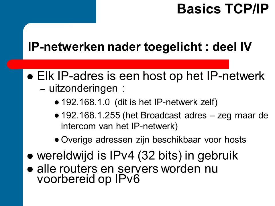 IP-netwerken nader toegelicht : deel IV