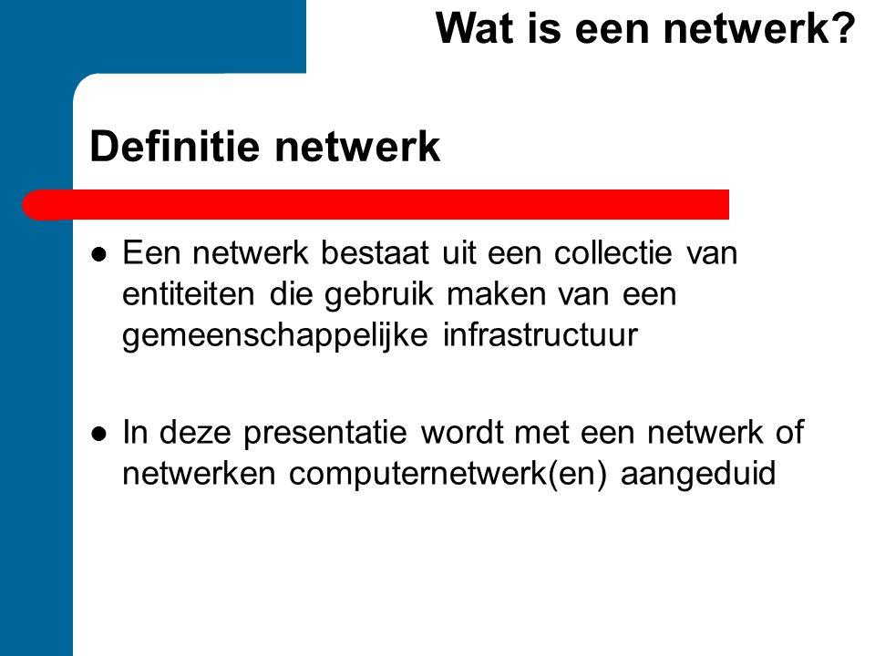 Wat is een netwerk Definitie netwerk