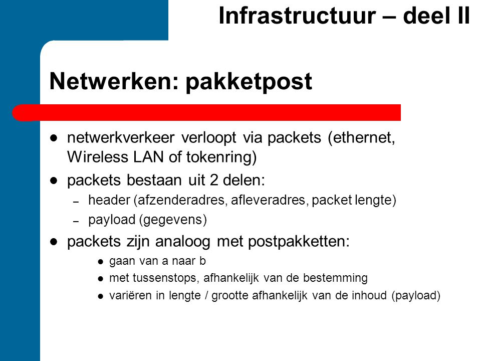 Netwerken: pakketpost