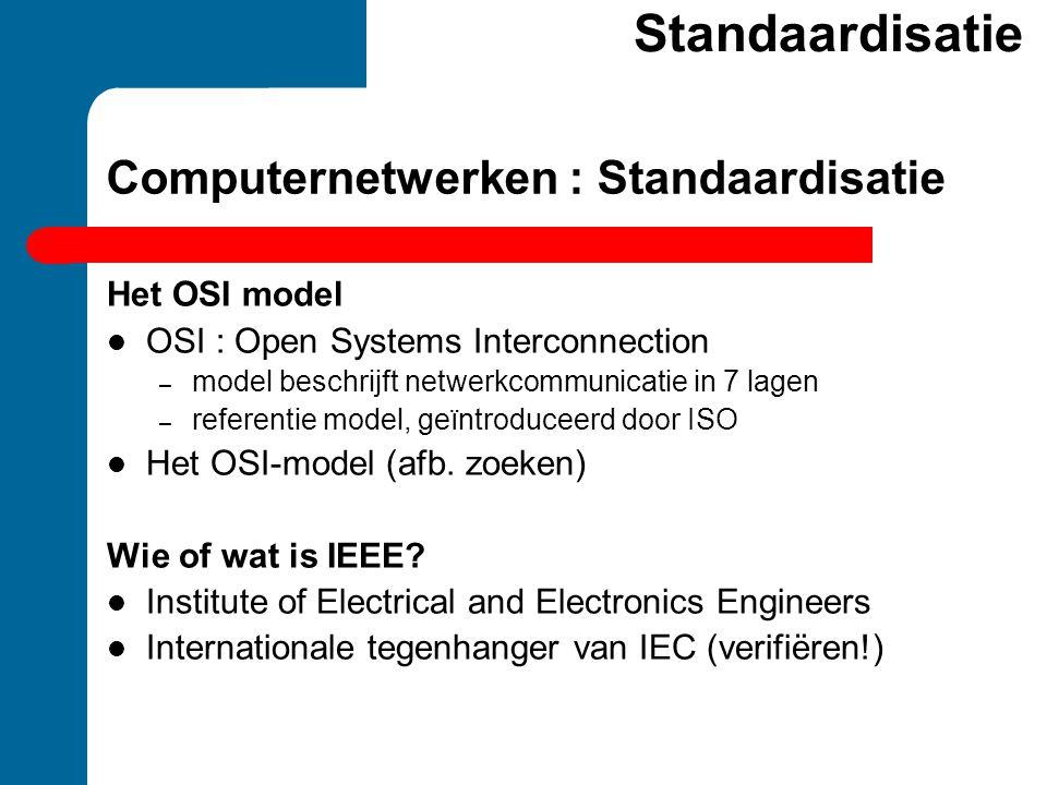 Computernetwerken : Standaardisatie
