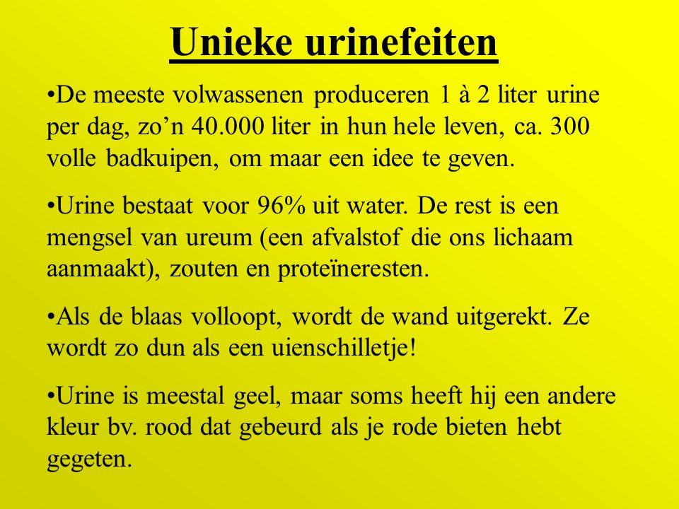 Unieke urinefeiten