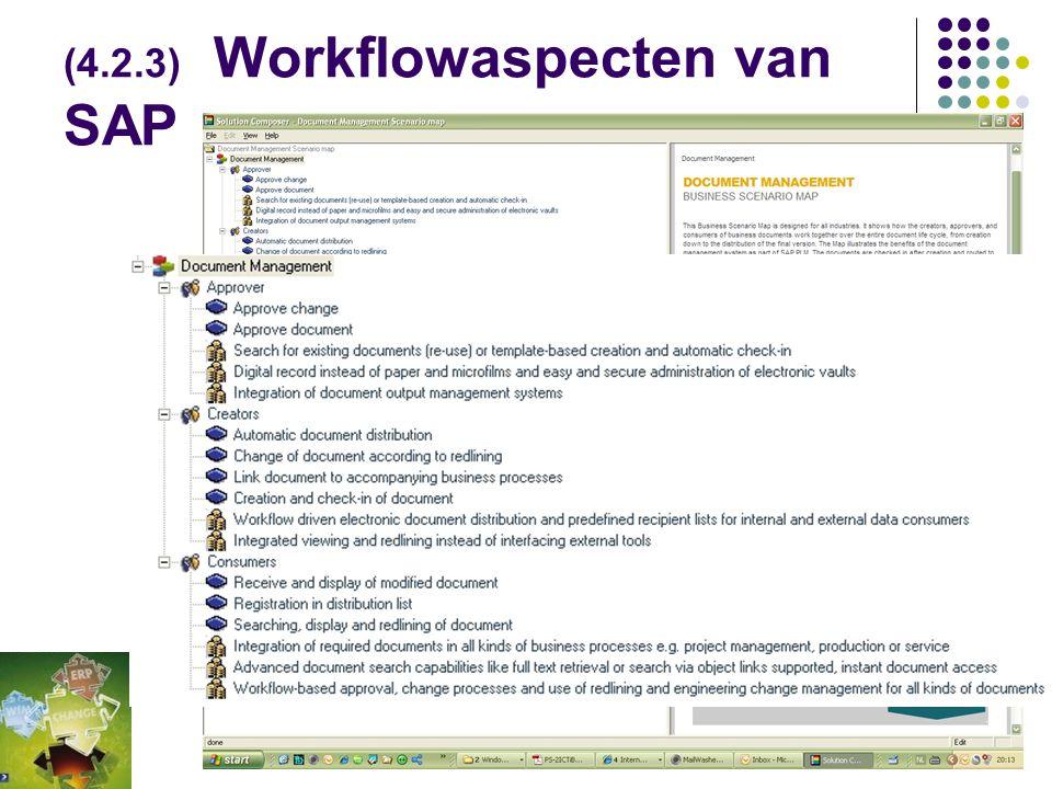 (4.2.3) Workflowaspecten van SAP