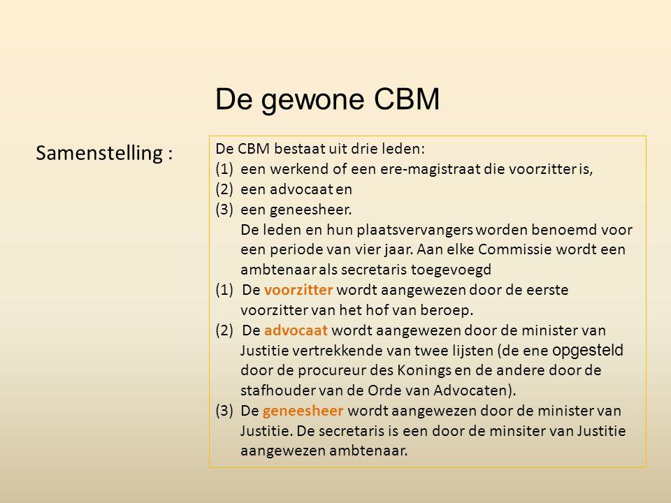 De gewone CBM Samenstelling : . De CBM bestaat uit drie leden: