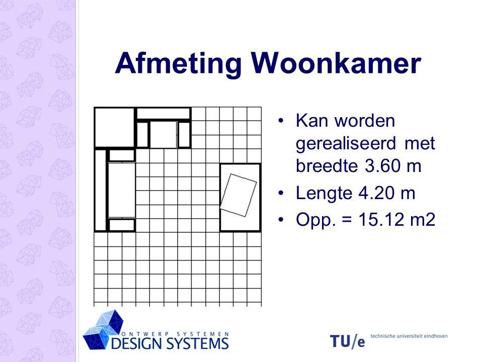 Afmeting Woonkamer Kan worden gerealiseerd met breedte 3.60 m