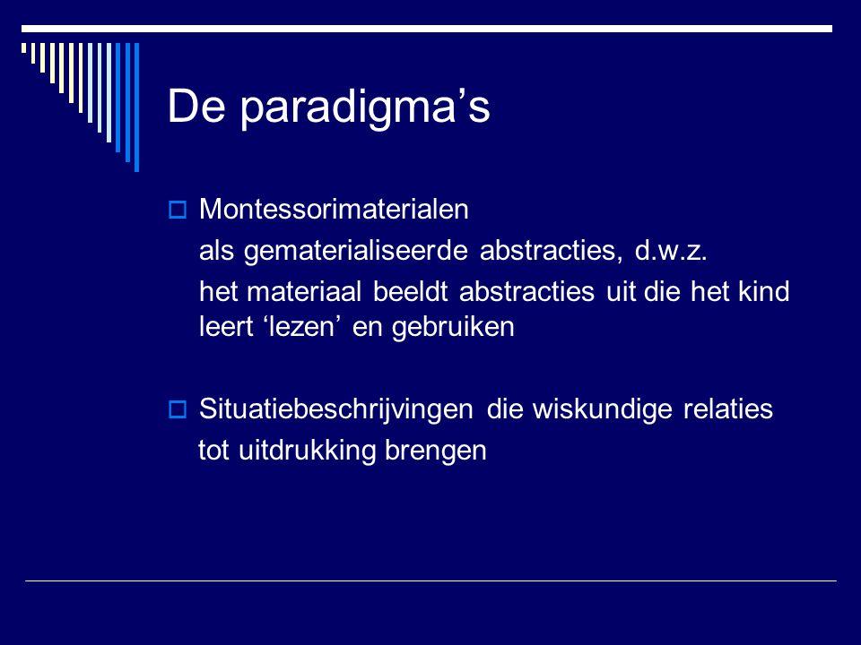 De paradigma's Montessorimaterialen