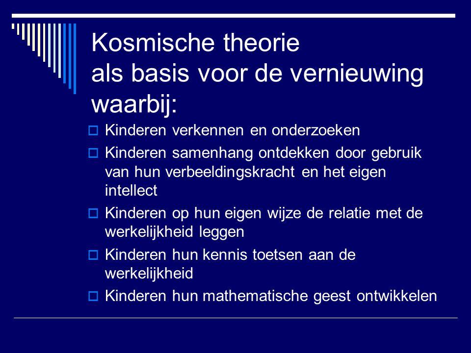 Kosmische theorie als basis voor de vernieuwing waarbij: