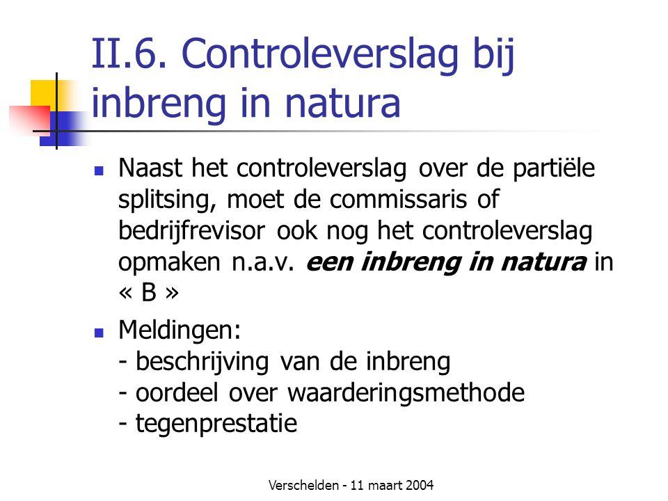 II.6. Controleverslag bij inbreng in natura