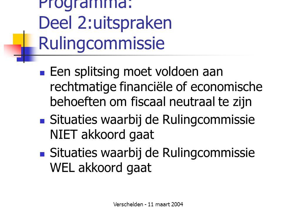 Programma: Deel 2:uitspraken Rulingcommissie