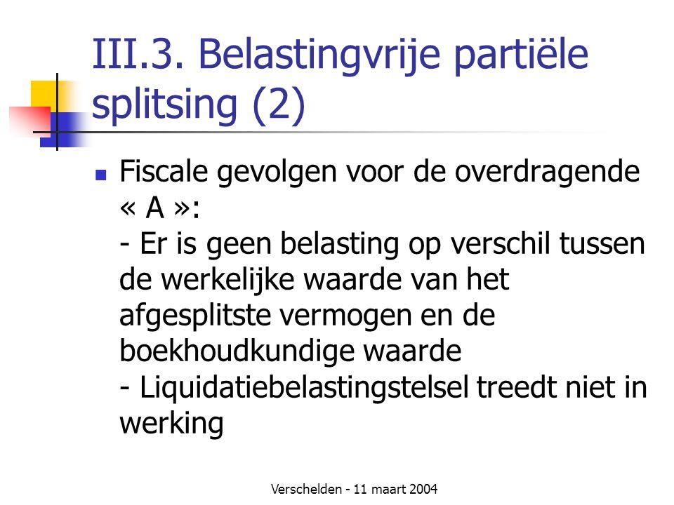 III.3. Belastingvrije partiële splitsing (2)