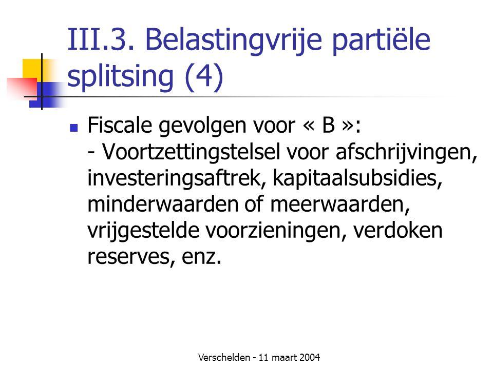 III.3. Belastingvrije partiële splitsing (4)