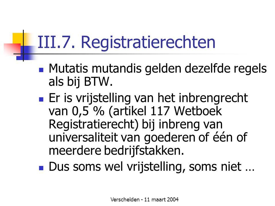 III.7. Registratierechten