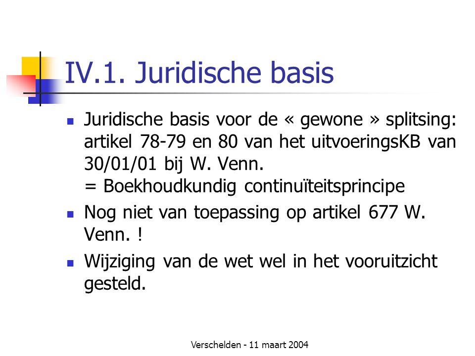 IV.1. Juridische basis