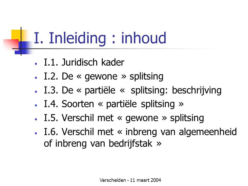 I. Inleiding : inhoud I.1. Juridisch kader