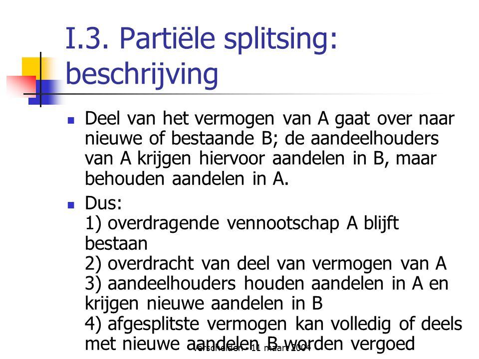 I.3. Partiële splitsing: beschrijving