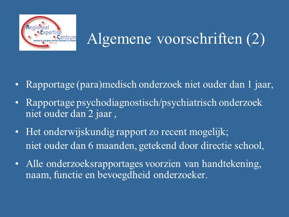 Algemene voorschriften (2)