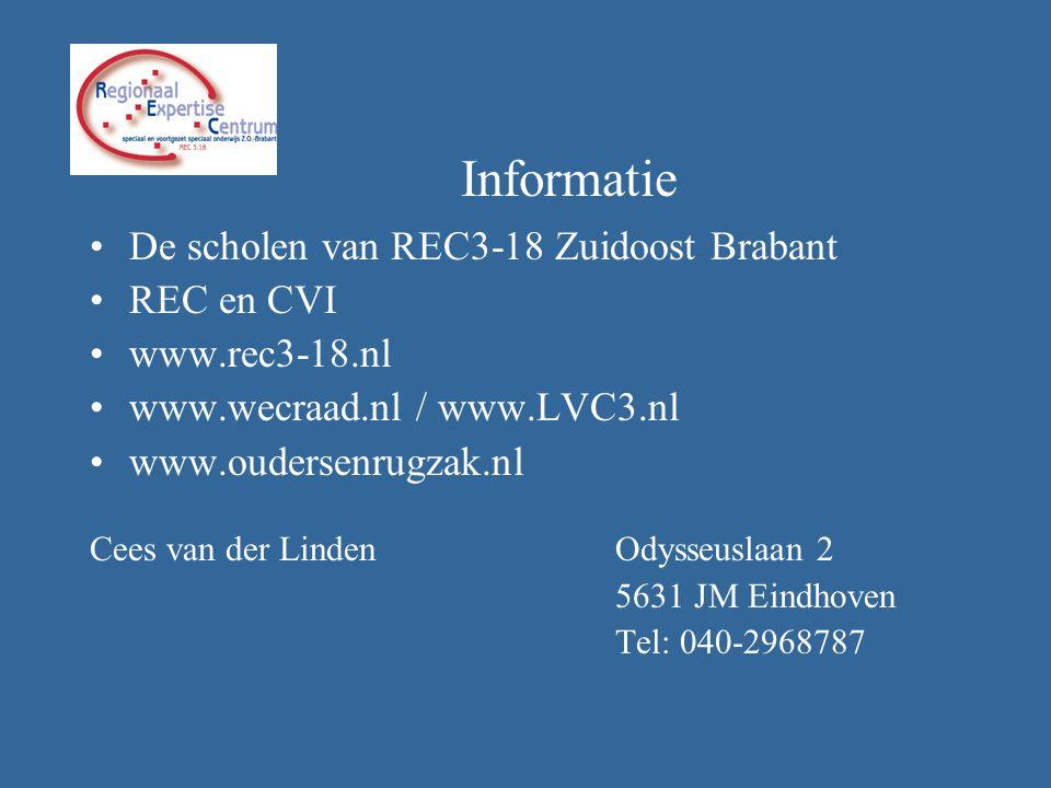 Informatie De scholen van REC3-18 Zuidoost Brabant REC en CVI