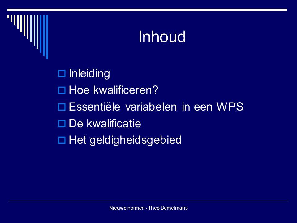 Nieuwe normen - Theo Bemelmans